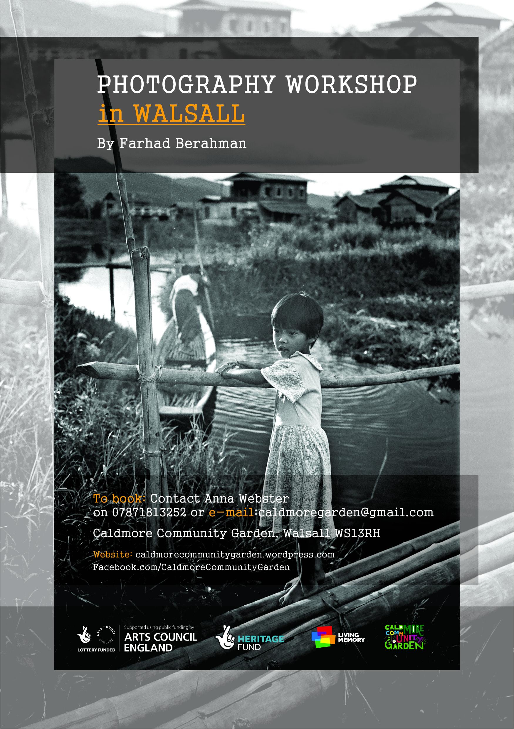 Photo workshops flyer